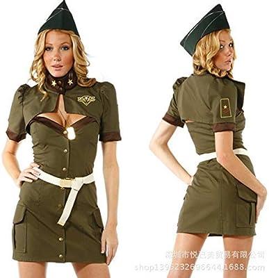 LVLUOYE Cosplay de Halloween Uniforme Verde del ejército espía de ...