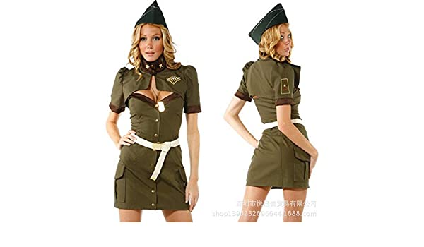 Traje de Cosplay, SXXS de Halloween ejército Uniforme Verde ...
