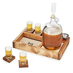 Handcrafted Small Batch Beer Making Home Brewing Kit with Coasters and Sampler Glasses