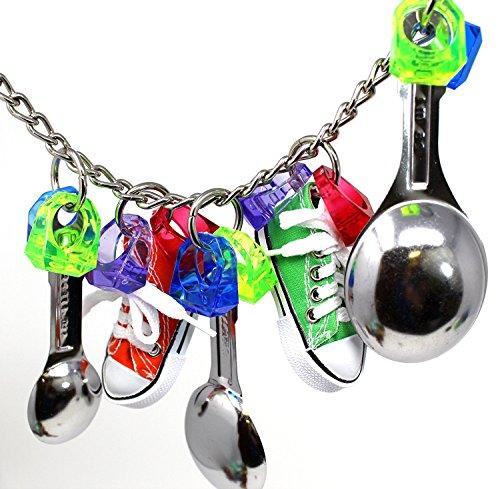 (Eternal-you Parrot chew Toys, Parrot, Toys, Sports Shoes, Birds Toys, Metal Spoons, Toys)