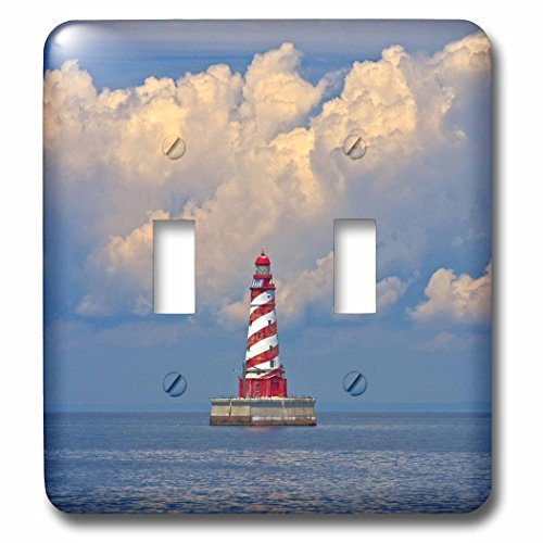 3dRose LLC lsp_91200_2 White Shoal Lighthouse, Beaver Island Us23 Jre0008 Joe Restuccia Iii Double Toggle ()