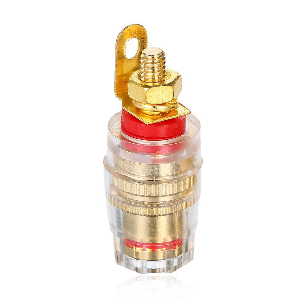 KKmoon 4mm Placcato in Oro Spina a Banana Connettore Presa Connettore Terminale per Amplificatore Altoparlante 10 pezzi