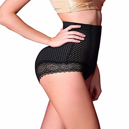 Women's Butt Lifter Shaper Seamless Tummy Control Waist Thigh Slimmer Invisable (L, Black)