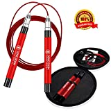 Epitomie Fitness Sonic Boom M2 with Hard Carry Case - High Speed Jump Rope with Patent Pending Self-Locking, Screw-Free Design – Weighted, 360 Degree Spin, Silicone Grip with 2 Speed Rope Cables