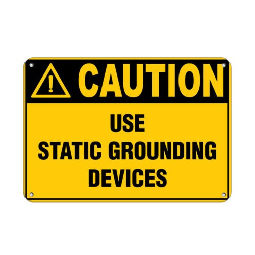 Sign Danger Use Spark Free Tools Only in This Area Hazard Labels Aluminum Metal