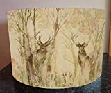 Handmade Lampshade made with Voyage Fabric in Enchanted Forest Stag Deer Lamp Shade