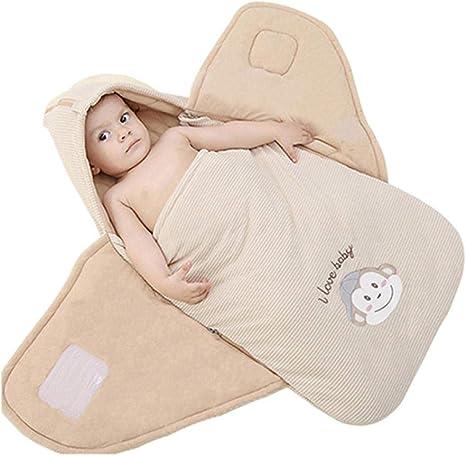 Anime de dibujos animados 0-6 meses Color Algodón Abrazo Saco de dormir para bebé Recién nacido Otoño e invierno Manta de algodón grueso Mono con alas Nido de ángel: Amazon.es: Bebé