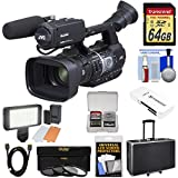 JVC GY-HM620U ProHD Professional Mobile News Camcorder Microphone + 64GB Card + LED Video Light + Hard Case + 3 Filters + HDMI Cable + Kit