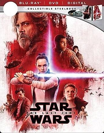 Amazon Com Star Wars The Last Jedi Limited Edition Steelbook Blu Ray Dvd Digital Collectiblepackaging Movies Tv