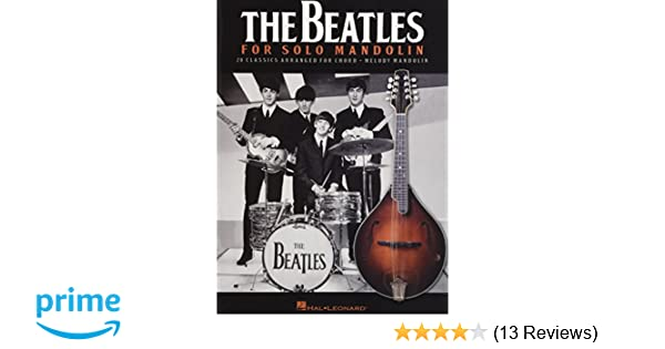 Amazon The Beatles For Solo Mandolin 0888680012441 Beatles