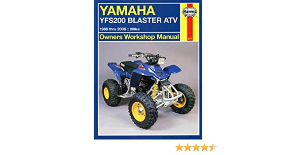amazon com 88 06 yamaha blaster haynes repair manual misc rh amazon com Yamaha Blaster Specifications Blaster 350