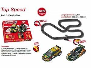 Scalextric Compact - Circuito Top Speed Compacto: escala reducida 1:43 - ocupa menos (C10012S500)