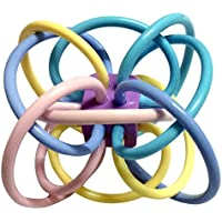 Toyshine Plastic Baby Rattle and Sensory Teether Toy (Multicolour)