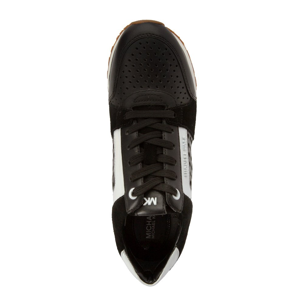 Amazon.com | MICHAEL Michael Kors Womens Billie Trainer Black Vachetta Perf/Sport Suede/Patent 9 M | Fashion Sneakers
