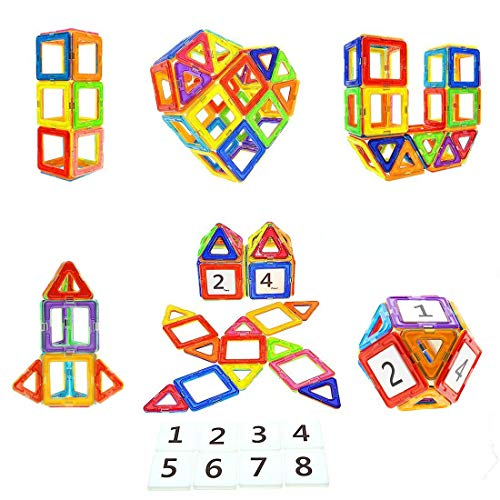 Magnetic Blocks STEM Educational Toys Magnet Building Block Tiles Set for Boys...