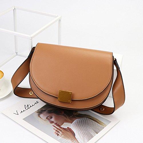 brown Emballage Cross GUANGMING77 Sac Coque De Lady Épaule Double Mme 7wfxSqzw