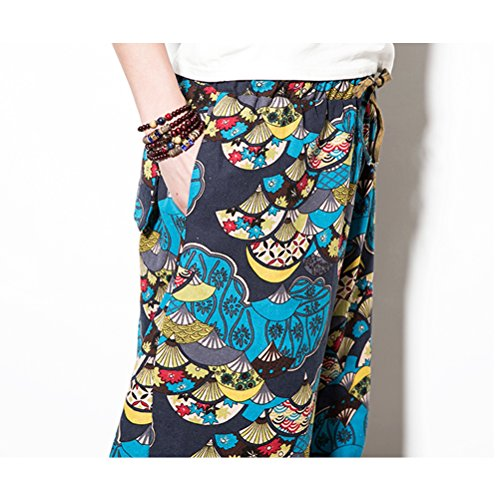 Pantalón A Boho Hippie Holgado Pantalones Mujer Aladdin Variedad Diseño Y Zhhlinyuan Elegir Hombre Blue De 2 Harem Yoga Harén Algodón Colores YvpFTwq