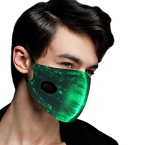 Led Party Mask with 7 Color Luminous Light Up Face Mask for Men Women Party Christmas Halloween Costume Mask