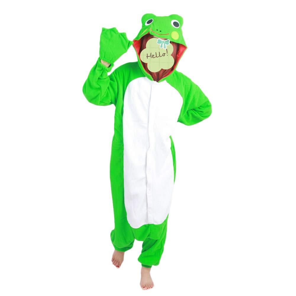 a929baf80d3b Amazon.com  Tri-Better Frog Onesie Pajamas Hooded Kigurumi Unisex ...