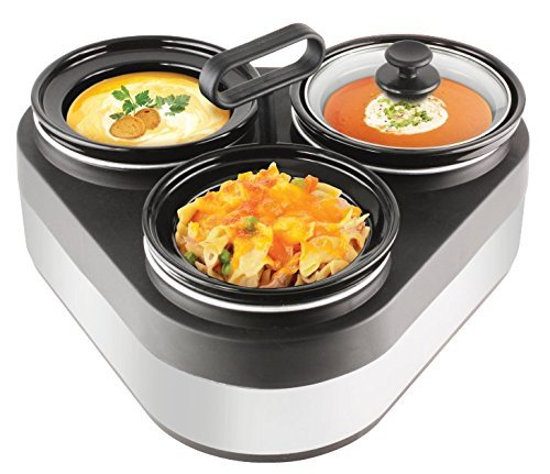 Granite Home Triple Slow Cooker with Removable Stoneware