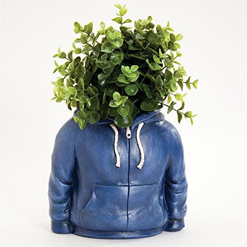 Bits and Pieces - Fun Hoodie Planter Urn Sculpture - Durable Resin Planter Sculpture - Indoors or Outdoors (Fun Sculpture)