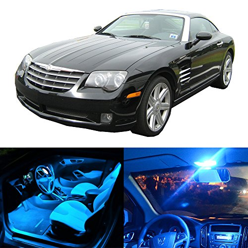 - cciyu 11 Pack Ice Blue LED Bulb LED Interior Lights Accessories Replacement Package Kit Replacement fit for 2004-2008 Chrysler Crossfire