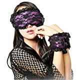 2 in 1 Porn Babydoll Sexy Lingerie for Sex Toys Sexy Lace Mask Handcuffs Sets Blindfolded Patch Fetish Sex Game Erotic Costumes Purple One Size