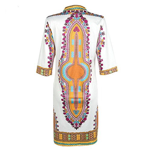 KEKEBEST for Women, Summer Casual Deep Traditional African Print Party Dresses