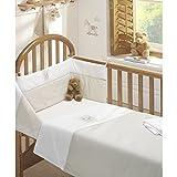 BEDTIME BEAR NURSERY BABY COT BED DUVET COVER QUILT BUMPER SHEET SET NATURAL NEW