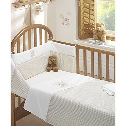 BEDTIME BEAR NURSERY BABY COT BED DUVET COVER QUILT BUMPER SHEET SET NATURAL NEW by Kids Club