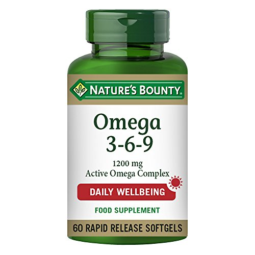 Nature's Bounty Omega 3-6-9 1200 mg Active Omega Complex Softgels - Pack of 60