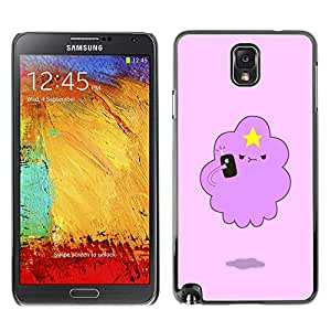 LASTONE PHONE CASE / Slim Protector Hard Shell Cover Case for Samsung Note 3 N9000 N9002 N9005 / Cool Angry Cloud Star Art Drawing Cartoon