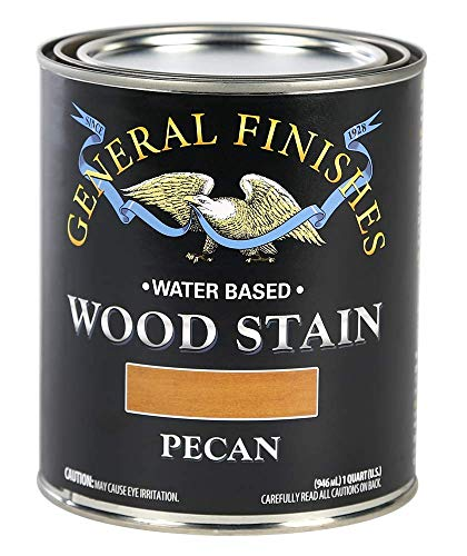 General Finishes WPQT Water Based Wood Stain, 1 Quart, Pecan