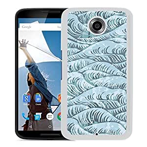 Unique Designed Cover Case For Google Nexus 6 With Wave Ocean Green Pattern Art Wallpaper (2) Phone Case