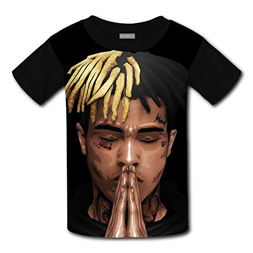 T-shirt Youth Shot (Youth Casual Rap Xxxtentacion 3D Printed T-Shirts Short Sleeve Tops Tees for Boy's Girl's S)