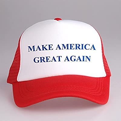 Make America Great Again Trucker Cap Hat White and Red CPT-011