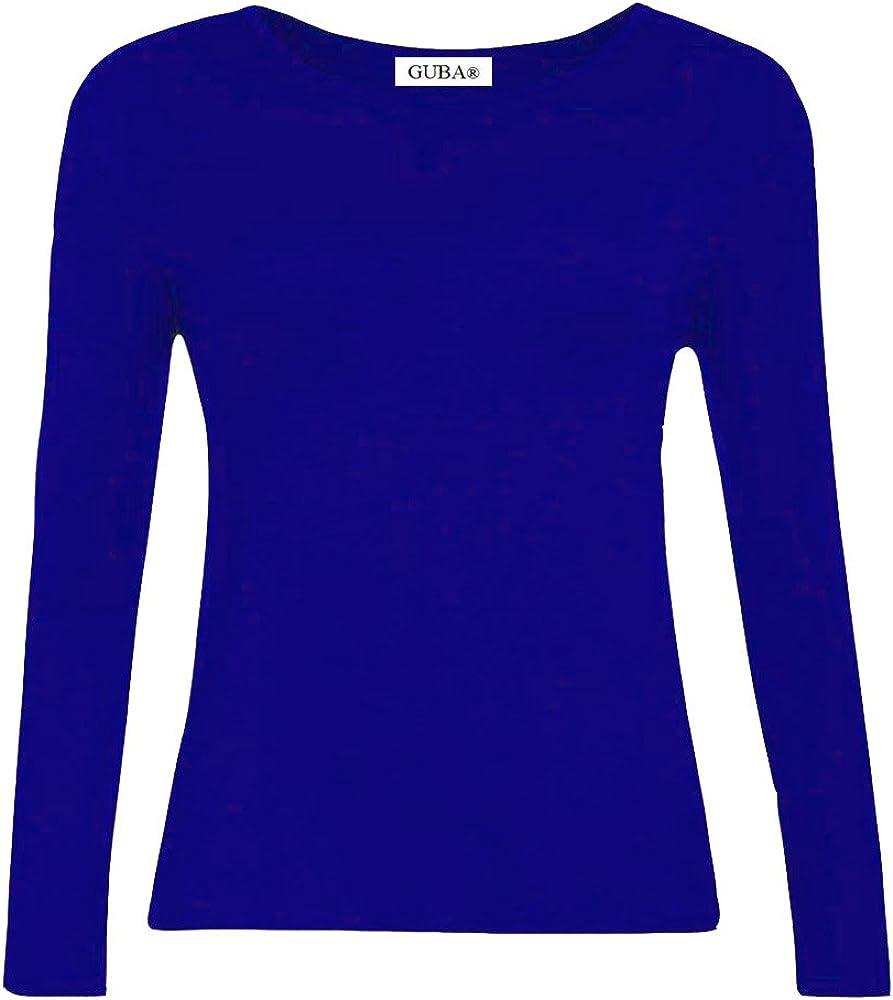 GUBA/® New Girls Plain Long Sleeve Crew Neck Basic TEE TOP T-Shirt Size 2-13 Years
