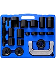Orion Motor Tech 22Pcs Universal Ball Joint Service Kit, Ball-Joint Press U-Joint Puller Removal Separator, Upper & Lower Control Arm Bushing Tool