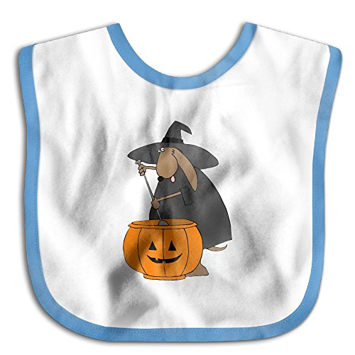 Fashion Baby Girl Boys Printed Halloween Witch Dog Waterproof Bibs (Halloween Clipart Witch)