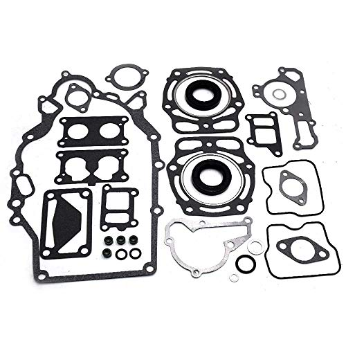 Complete Engine Rebuild Gasket Set For Kawasaki GAS Mule KAF620 With 2 Oil Seals