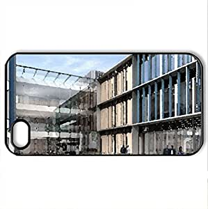 Modern Campus - Case Cover for iPhone 4 and 4s (Modern Series, Watercolor style, Black)