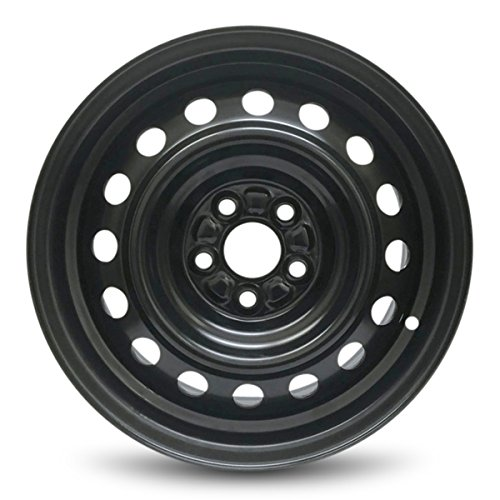 Road Ready Car Wheel For 2009-2019 Toyota Corolla 15 Inch 5 Lug Black Steel Rim Fits R15 Tire - Exact OEM Replacement - Full-Size Spare