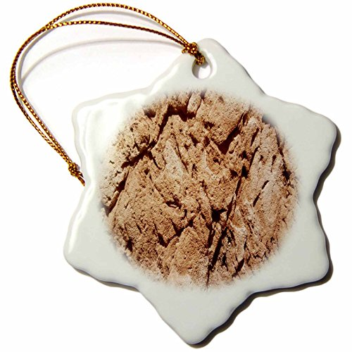 3dRose TDSwhite – Rock Photos - Geological Formation - 3 inch Snowflake Porcelain Ornament (orn_281887_1) by 3dRose