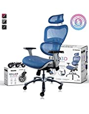 NOUHAUS Ergo3D Ergonomic Office Chair - Rolling Desk Chair with 4D Adjustable Armrest, 3D Lumbar Support and Blade Wheels - Mesh Computer Chair, Gaming Chairs, Executive Swivel Chair