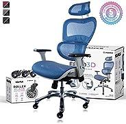 NOUHAUS Ergo3D Ergonomic Office Chair - Rolling Desk Chair with 3D Adjustable Armrest, 3D Lumbar Support and E