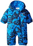 Columbia Baby Boys' Frosty Freeze Bunting, Hyper Blue Print, 0-3 Months