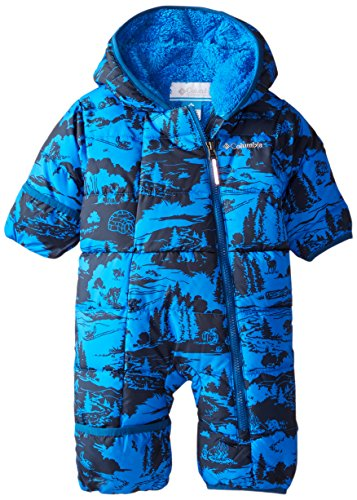Columbia Baby Boys' Frosty Freeze Bunting, Hyper Blue Print, 0-3 Months by Columbia