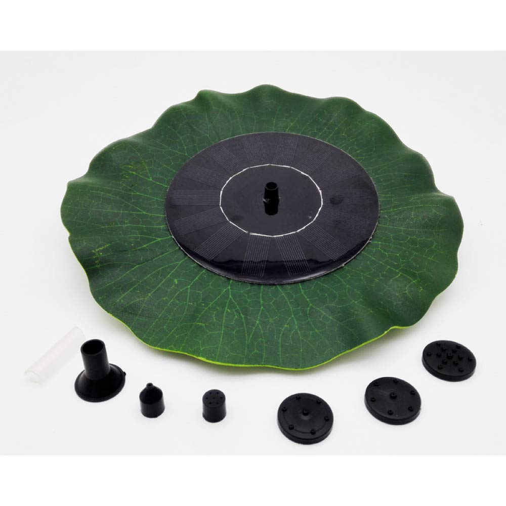HUANGYABO Solar Pond Fountain 7V 1.4W Small Simulation Lotus Fountain 200L/H Dc 200L/H