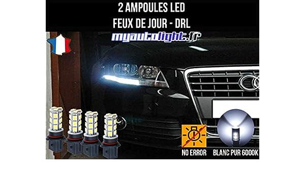Pack luz de día LED Blanco Xenon para Audi A4 B8: Amazon.es: Coche y moto