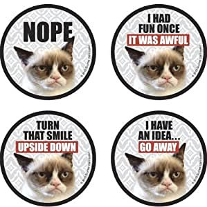 Grumpy Cat Assorted 4 Pack Bordered Coasters